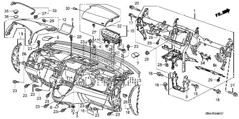 Honda online store : 2008 crv instrument panel parts