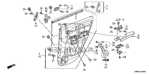 Honda online store : 2008 crv rear door lining parts