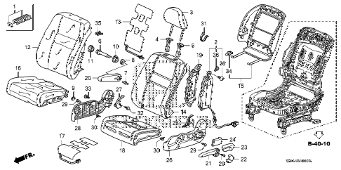 Honda online store : 2007 crv front seat (l.) parts