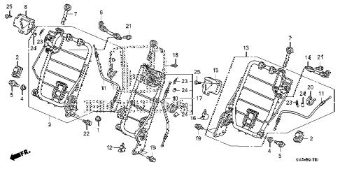 Honda online store : 2008 crv rear seat components (1) parts
