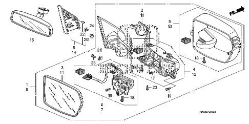 Honda online store : 2011 crv mirror (1) parts