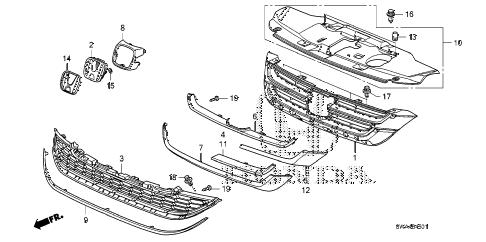 Honda online store : 2010 crv front grille ('10-) parts
