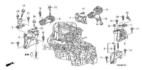 Honda online store : 2009 crv engine mounts parts