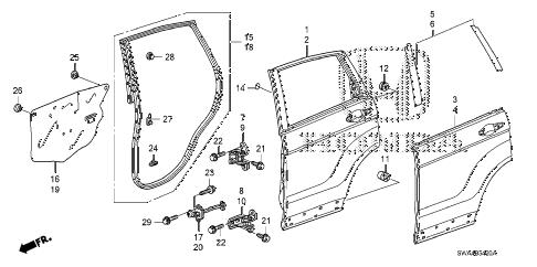 Honda online store : 2008 crv rear door panels parts