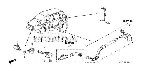 Honda online store : 2008 crv a/c sensor parts