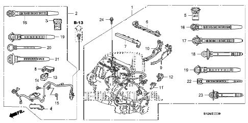 Honda online store : 2007 crv engine wire harness (-'09) parts
