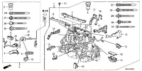 Honda online store : 2011 crv engine wire harness ('10-) parts
