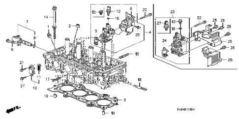 Honda online store : 2009 crv spool valve parts