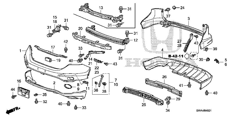 Honda online store : 2011 crv bumpers ('10-) parts