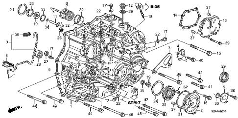 Honda online store : 2011 pilot at transmission case parts