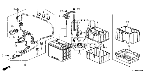 Honda online store : 2010 pilot battery parts