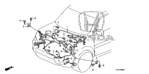 Honda online store : 2014 pilot wire harness (1) parts