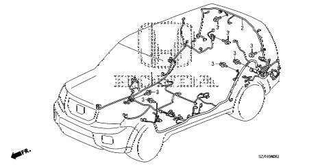 Honda online store : 2011 pilot wire harness (3) parts
