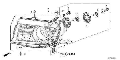 Honda online store : 2013 pilot headlight ('12-) parts
