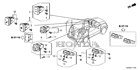 Honda online store : 2010 pilot switch parts