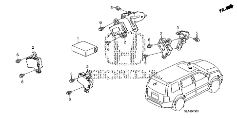 Honda online store : 2013 pilot tpms unit parts