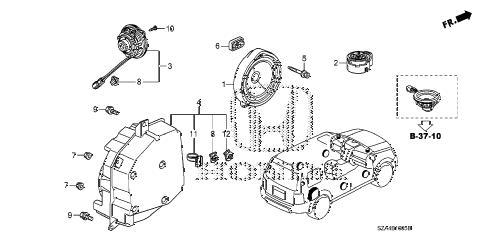 Honda online store : 2013 pilot speaker parts