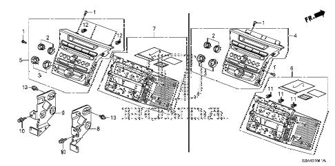 Honda online store : 2012 pilot audio unit ('12-) (1) parts