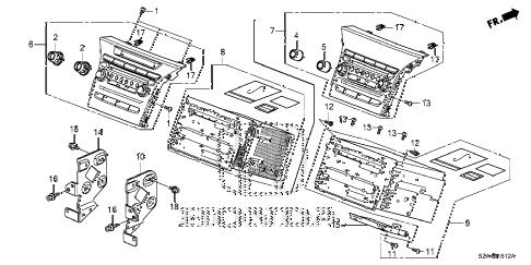 Honda online store : 2013 pilot audio unit ('12-) (2) parts