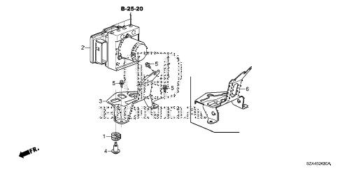Honda online store : 2013 pilot vsa modulator parts