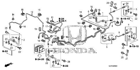 Honda online store : 2012 pilot brake lines (vsa) parts