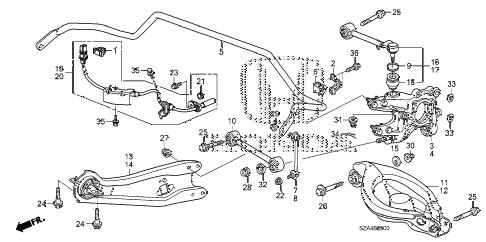 Honda online store : 2009 pilot rear lower arm parts