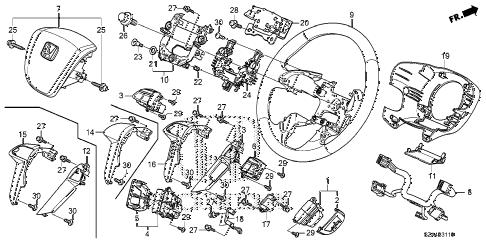Honda online store : 2013 pilot steering wheel (srs) parts