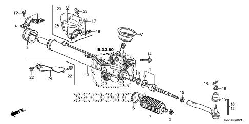 Honda online store : 2010 pilot p.s. gear box parts