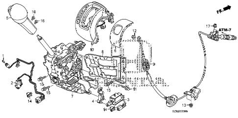 Honda online store : 2011 pilot select lever parts