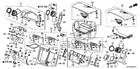 Honda online store : 2015 pilot instrument panel garnish