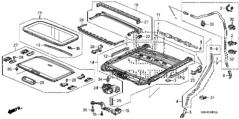 Honda online store : 2012 pilot sliding roof parts