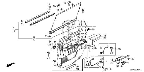 Honda online store : 2013 pilot rear door lining parts
