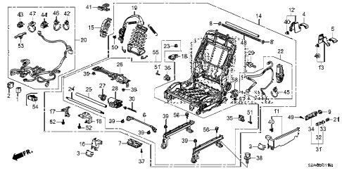 Honda online store : 2012 pilot front seat components (l