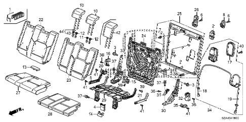 Honda online store : 2011 pilot rear seat (l.) parts