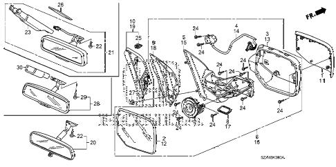 Honda online store : 2011 pilot mirror parts
