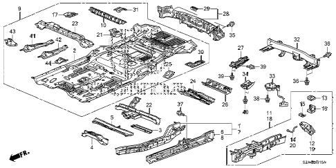 Honda online store : 2010 pilot floor panels parts