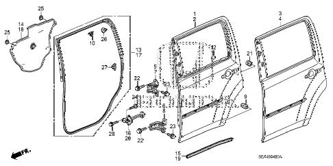 Honda online store : 2014 pilot rear door panels parts