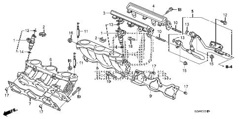 Honda online store : 2012 pilot fuel injector parts