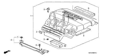 Honda online store : 2012 pilot engine cover parts