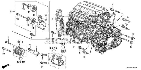 Honda online store : 2011 pilot alternator bracket