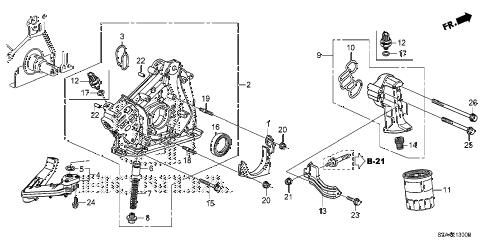 Honda online store : 2012 pilot oil pump parts