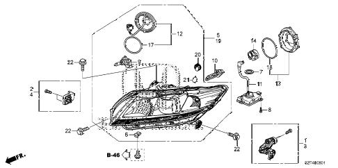 Honda online store : 2011 crz headlight (hid) parts