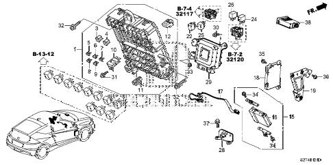 Honda online store : 2012 crz control unit (cabin) (1) parts