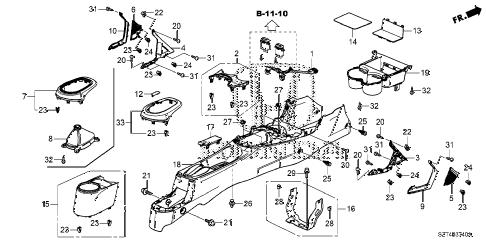 Honda online store : 2012 crz console parts