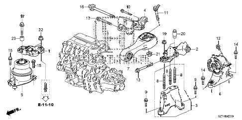 Honda online store : 2012 crz engine mounts (mt) parts
