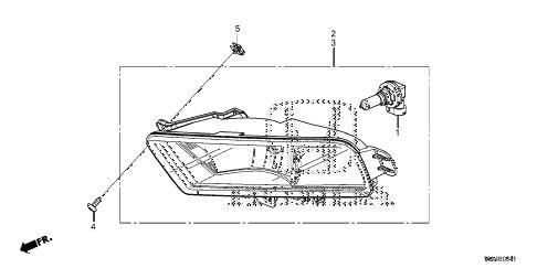 Honda online store : 2015 crv foglight ('15-) parts