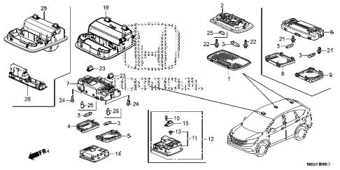Honda online store : 2013 crv interior light parts