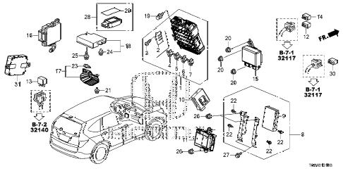 Honda online store : 2012 crv control unit (cabin) (1) parts