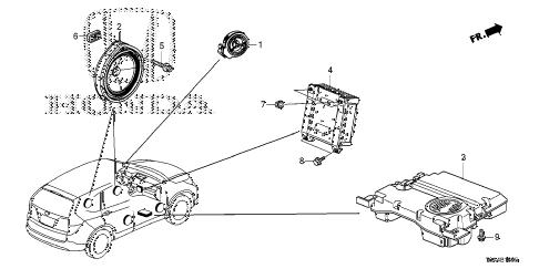 Honda online store : 2012 crv speaker parts