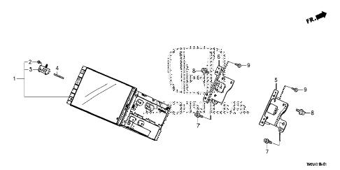 Honda online store : 2015 crv display audio unit parts